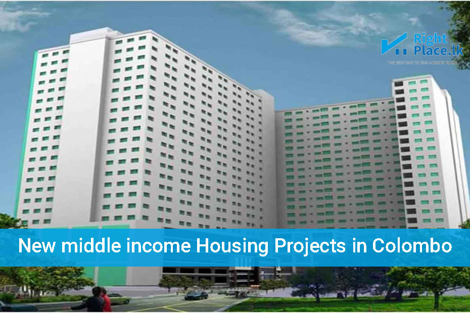 New middle income housing projects in Colombo